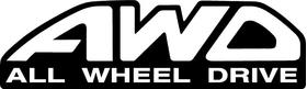 AWD All Wheel Drive Decal / Sticker 01