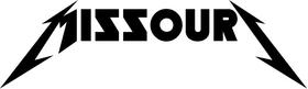 Missouri Metallica Decal / Sticker 03
