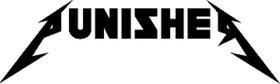 Punisher Metallica Style Lettering Decal / Sticker 163