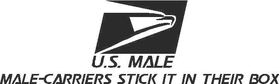 Male Carriers Stick it in Their Box Decal / Sticker