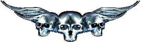 Silver Winged Skulls J1 Decal / Sticker