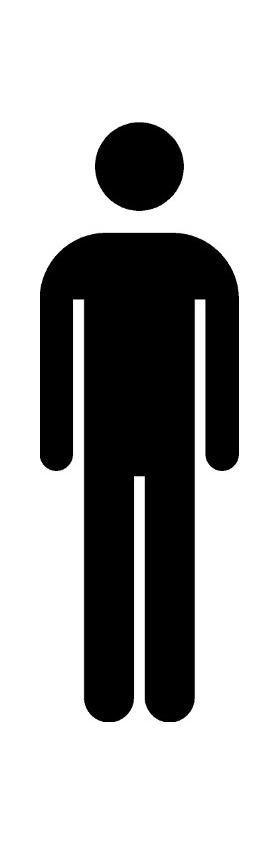 Men's Room Decal / Sticker 01