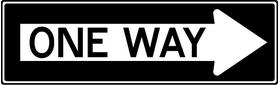 One Way Decal / Sticker 02