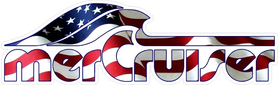 American Flag Mercury MerCruiser Decal / Sticker