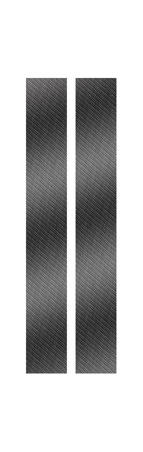 z 10 Inch Dual Carbon Fiber Racing Stripe Decal / Sticker
