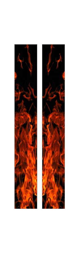z 10 Inch Dual True Fire Racing Stripe Decal / Sticker