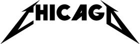 Chicago Metallica Decal / Sticker 01