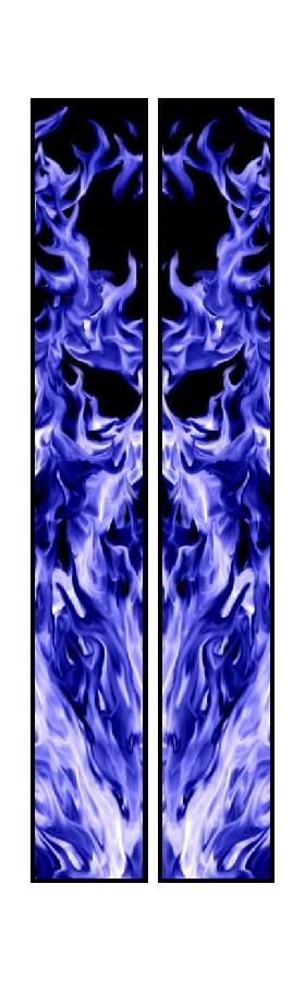 z 10 Inch Dual Blue True Fire Racing Stripe Decal / Sticker