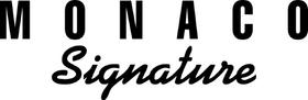 Monaco Signature Decal / Sticker 07