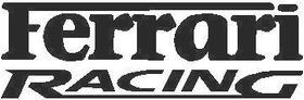 Ferrari Racing Decal / Sticker 01