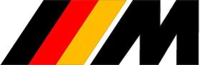 BMW M German Flag Decal / Sticker 34