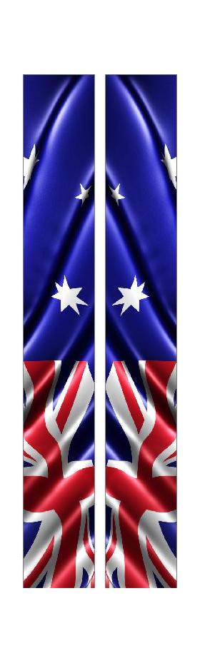 z 10 Inch Dual Australian Flag Racing Stripe Decal / Sticker