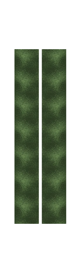 z 10 Inch Dual Racing Stripe Green Reptile Scales Decal / Sticker
