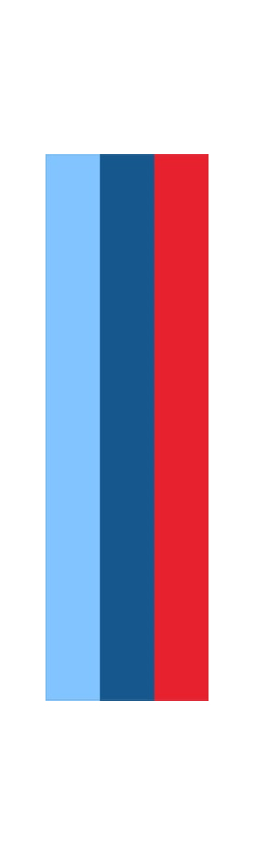 z 12 Inch BMW M Colors Racing Stripe Decal / Sticker 03