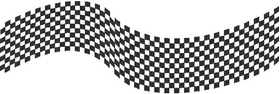 Checkered Flag Decal / Sticker 03