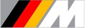 BMW M German Flag Decal / Sticker 35