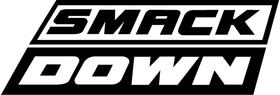WWE Smack Down Decal / Sticker 01