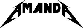 Amanda Metallica Style Decal / Sticker 01
