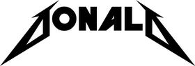 Donald Metallica Style Decal / Sticker 01