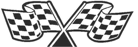 Checkered Flag Decal / Sticker 80