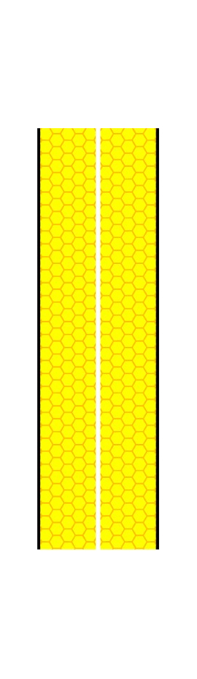z 10 Inch Dual Racing Stripe Honeycomb Decal / Sticker 01