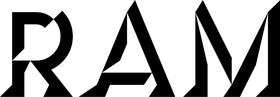 Ram Lettering Decal / Sticker 13
