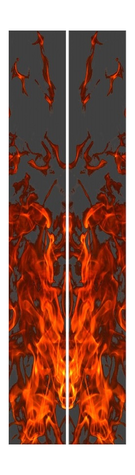 z 10 Inch Dual True Fire Racing Stripe Decal / Sticker 25