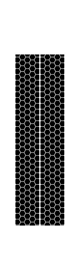 10 Inch Honeycomb Dual Racing Stripe Decal / Sticker