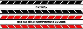 Yamaha Stripe Decal / Sticker 12 Set of 2