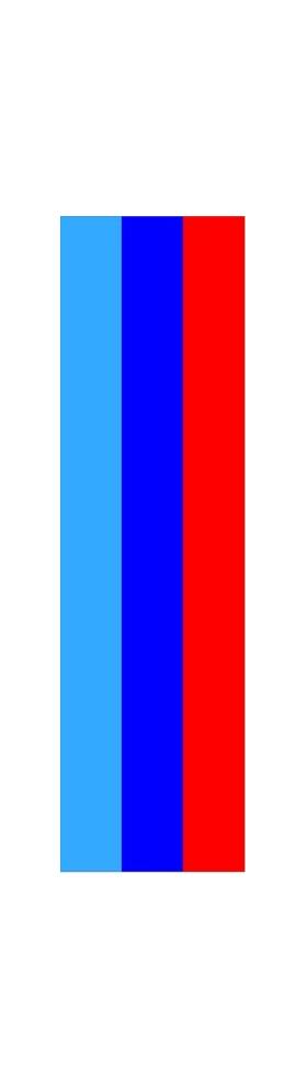 z 12 Inch BMW M Colors Racing Stripe Decal / Sticker 02