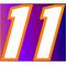11 Race Number 2 Color Motor Font Decal / Sticker
