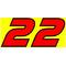 22 Race Number 2 Color AF Pespi Font Decal / Sticker