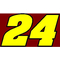 24 Race Number 2 Color Aardvark Bold Font Decal / Sticker