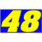 48 Race Number 2 Color Aardvark Font Decal / Sticker