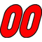 00 Race Number Bahamas Font 2 Color Decal / Sticker