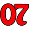07 Race Number Homeward Bound 2 Color Decal / Sticker