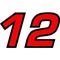 12 Race Number 2 Color Euromode Bold Font Decal / Sticker