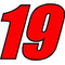 19 Race Number 2 Color Impact Font Decal / Sticker