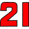 21B Race Number 2 color Decal / Sticker