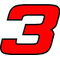3 Race Number Hemihead Font 2 Color Decal / Sticker