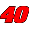 40 Race Number 2 Color Aardvark Font Decal / Sticker