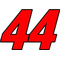 44 Race Number 2 Color Switzerland Font Decal / Sticker