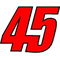 45 Race Number 2 COLOR Decal / Sticker