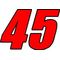 45 Race Number 2 Color Impact Font Decal / Sticker