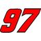 97 Race Number 2 COLOR Decal / Sticker
