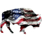 American Flag Bison Decal / Sticker