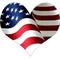 American Flag Heart 02 Decal / Sticker
