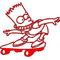 Bart Skateboard decal / sticker