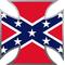 Confederate Flag Maltese Cross Decal / Sticker