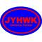KU Jayhawks Oval Decal / Sticker